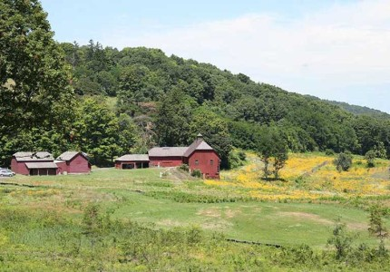 Farm Complex from Crown Hill. Photo by Melanie Hasbrook, 2013