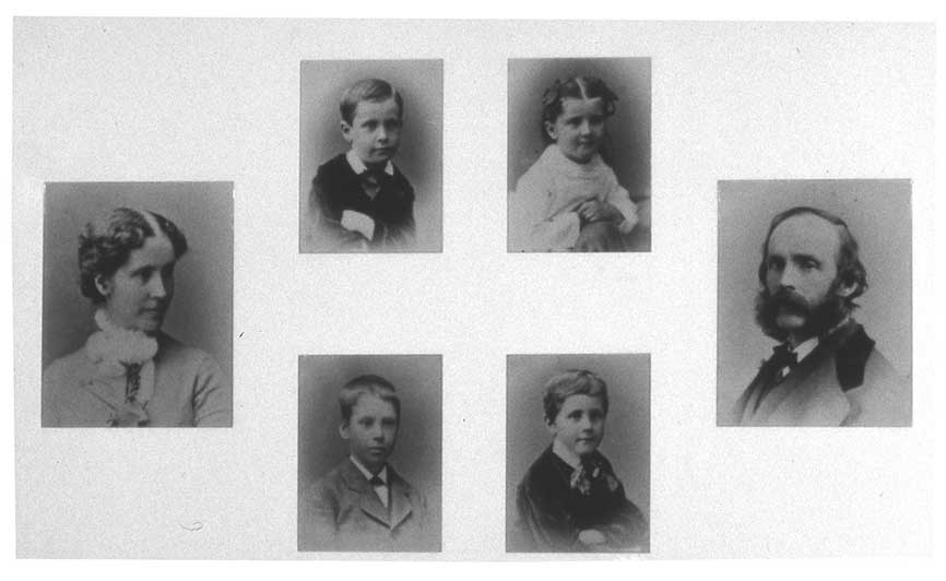 The Church family around 1875. Children photographed by Frank Forshew. Composite photograph by New York State Office of Parks, Recreation and Historic Preservation. Photographs collection of Olana State Historic Site