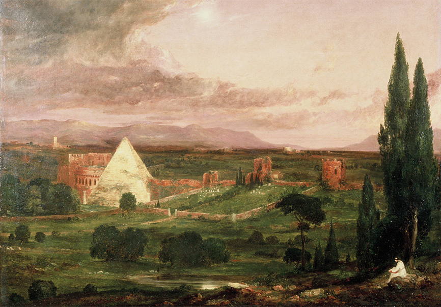 View of the Protestant Burying Ground, Rome by Thomas Cole