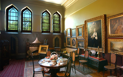 The collection of old master paintings is on view in the Dining Room. Photograph by Andy Wainwright.